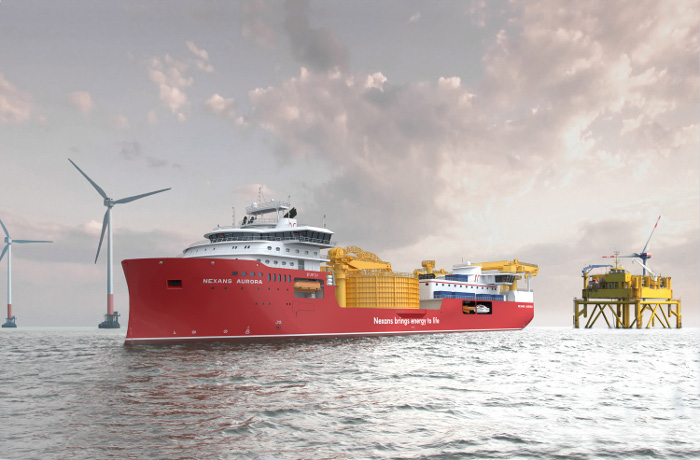 Construction progresses for Nexans cable lay vessel