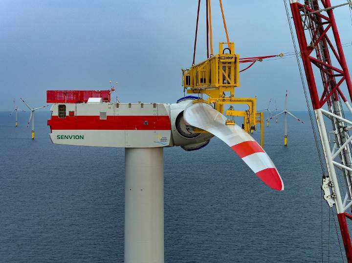 Final turbine installed Trianel Windpark Borkum II