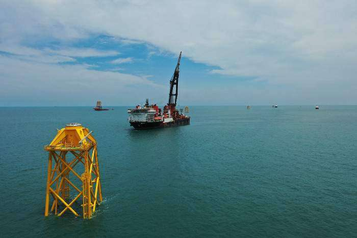 Jan De Nul installs first jacket foundation for Taipower demonstration