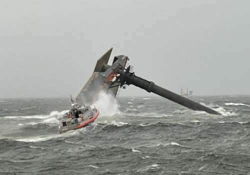 Search continues for 12 missing crew of capsized lift boat