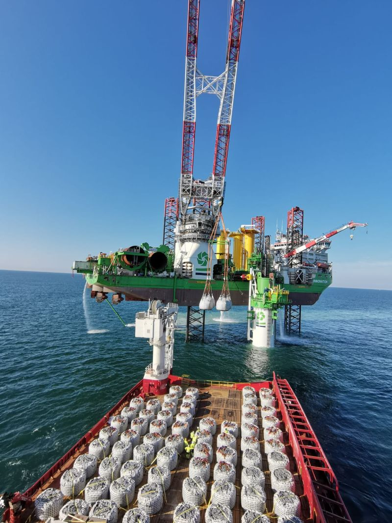 First drilled monopile in at Saint-Nazaire