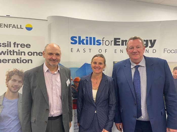 Left to Right - Andy Paine (Vattenfall), Catrin Ellis-Jones (Vattenfall) and Martin Dronfield (EEEGR)