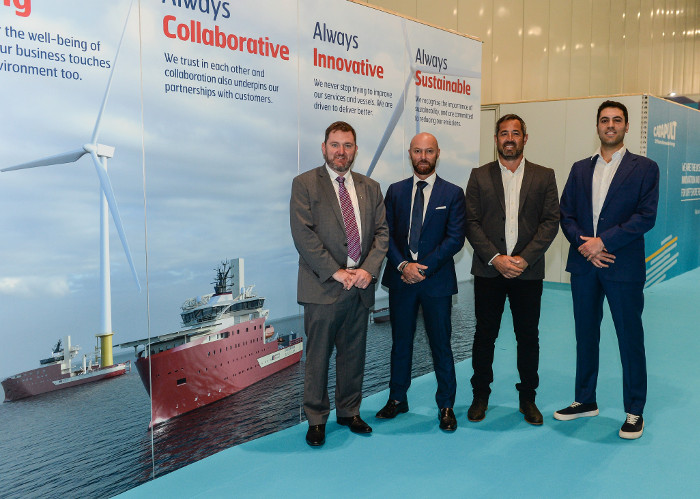 North Star Renewables' Matthew Gordon, Equinor's Luca Daniele, Simon Coote from Alicat and Guido De Mola from Chartwell Marine