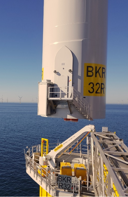 First turbine installed at Borkum Riffgrund 2