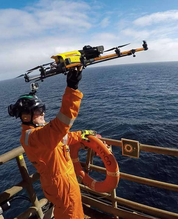 HOME Offshore uses drones